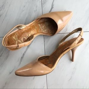 Sam Edelman | Orly Nude Patent Slingback Pumps 4.5